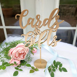 BEST SELLER! Cards and Gifts Sign - Party Signage - Gold, Silver or DIY - Laser Cut Gifts And Cards Sign -  Venice Line