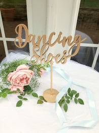 Dancing Shoes Table Sign - Dancing Wedding Sign - Dancing Sign - Venice Line