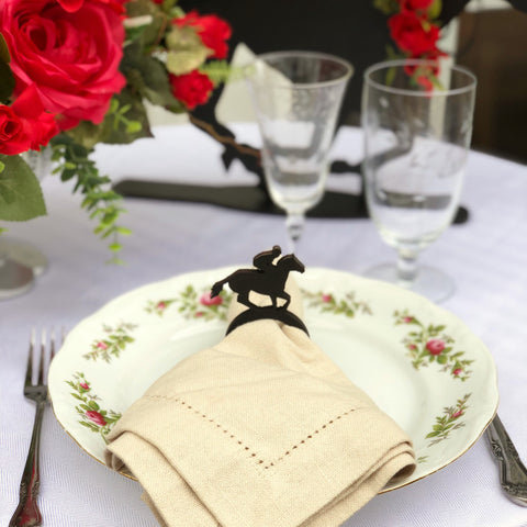 Race Horse Napkin Rings - Kentucky Derby Themed Party Decor, Horse Themed Party, Horse Races Tailgate Party Decor