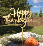 Thanksgiving Decor Laser Cut Wood Sign - Happy Thanksgiving sign