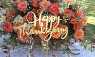 Thanksgiving Decor. Laser Cut Wood Sign. Happy Thanksgiving sign.Gold