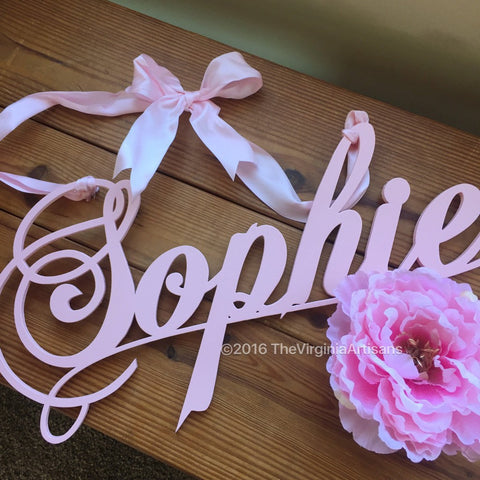 Personalized Girl's Name Nursery Wall Sign