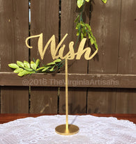 Wish Table Sign. Wedding Signage. Gold or Silver. Elegance Line.