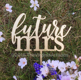 Future Mrs Cake Topper - Bride To Be Cake Topper - Bridal Shower Cake Topper. A