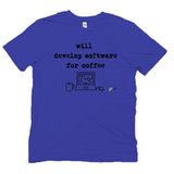 SOFTWARE DEVELOPER T SHIRT, Will Develop Software for Coffee