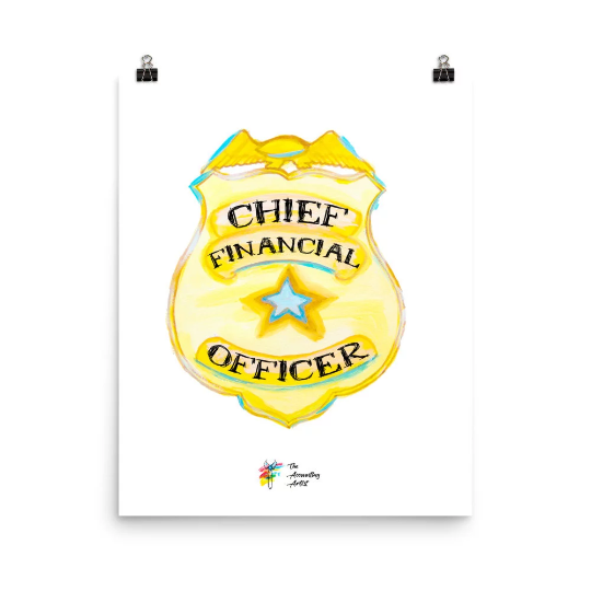 CFO Gift, Chief Financial Officer Print