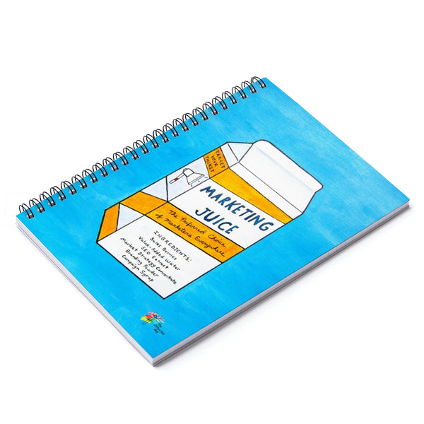 Marketing Juice Spiral Notebook - Funny Marketer Gift