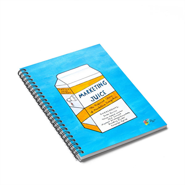Marketing Juice Spiral Notebook - Funny Marketing Gift