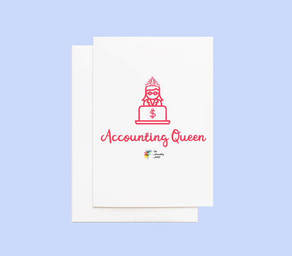Accounting Queen Greeting Card
