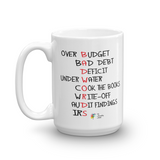Bad Words Funny Accountant Mug, 15oz