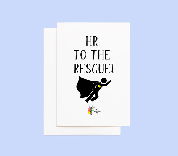Funny HR Card - HR To The Rescue!
