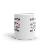 Months of the Year Tax Mug