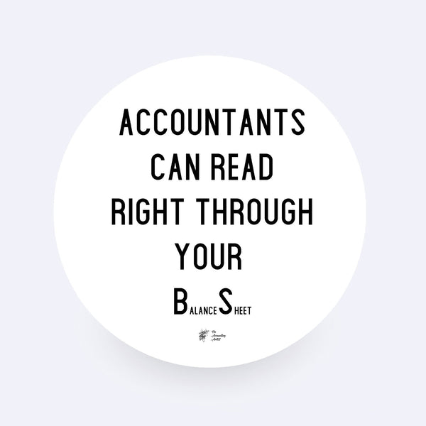 Funny Accounting Sticker