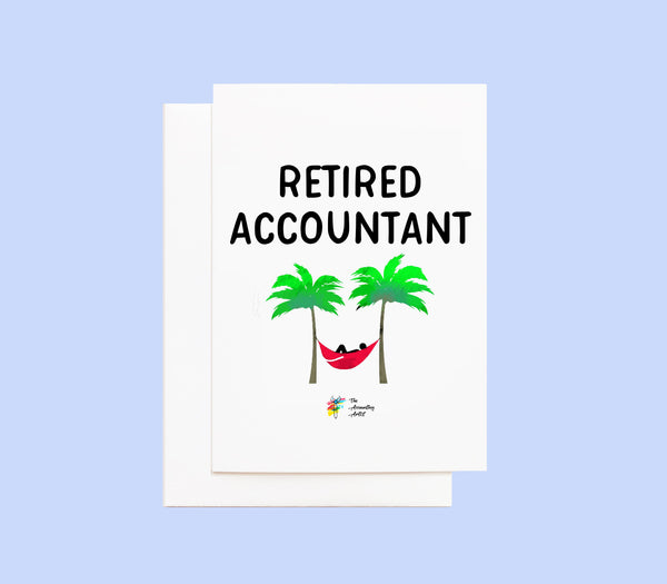 Retired Accountant Greeting Card