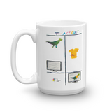 Funny Dinosaur Accountant Mug 15oz