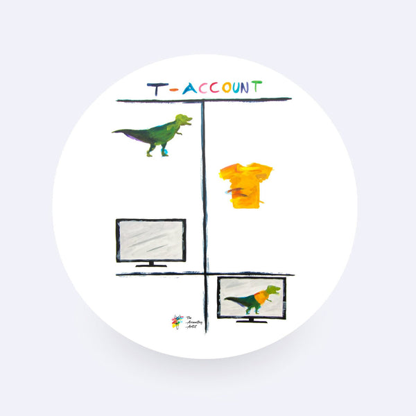 T Rex T Account Accounting Sticker