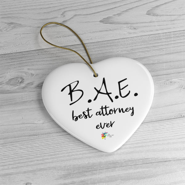 BAE Best Attorney Ever Ornament for Lawyer
