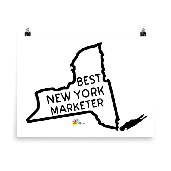 Best New York Marketer Art Print