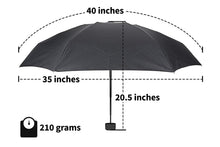 Small Mini Umbrella with Case. Light Compact Design makes it perfect for Travel