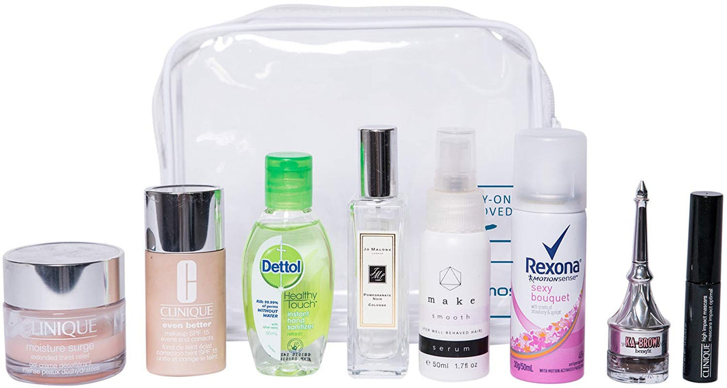 TSA Approved Toiletry Bag - Clear Travel Bag for Men and