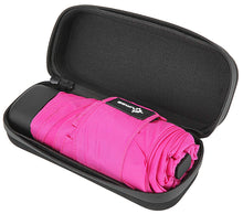 Travel Umbrella with Waterproof Case - Small and Compact for Backpack or Purse. Great Umbrella for Women, Men or Kids.