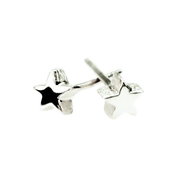 Small Star Sterling Silver Stud Earrings