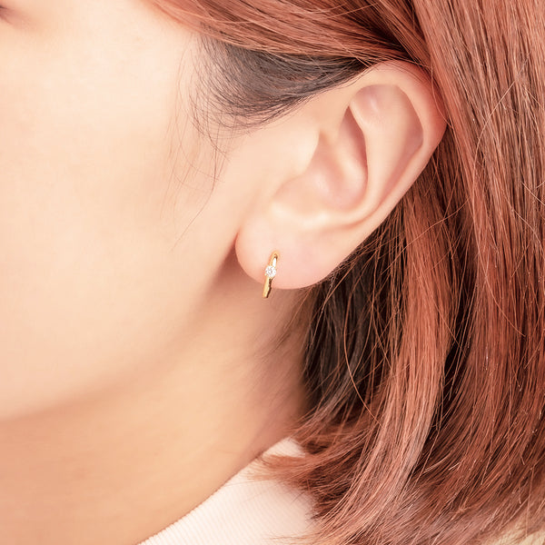 Zircon Mini Hoop Earrings