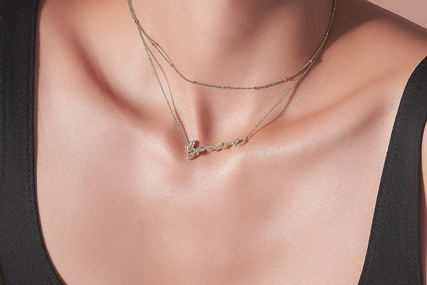 Mini Pave Clodia Necklace