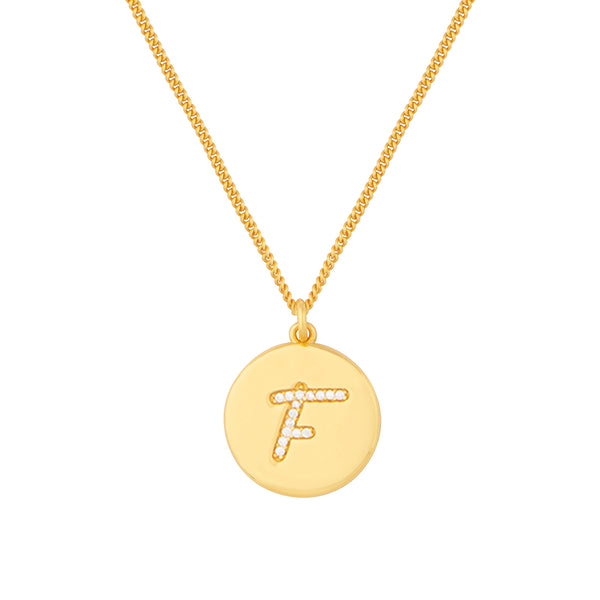 Initial F Letter Necklace