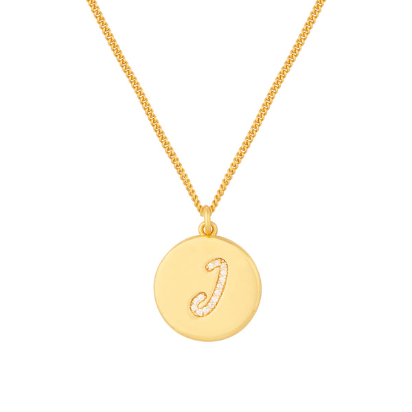Initial J Letter Necklace