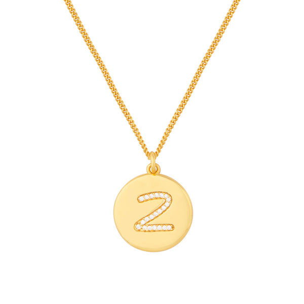 Initial Z Letter Necklace