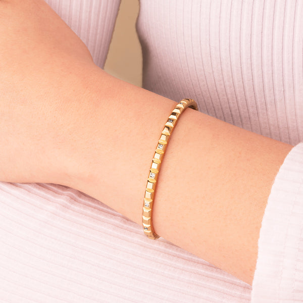 "Pyramid ""CRAVE"" Bangle"