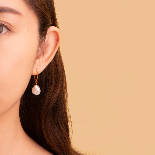Organic Pearl Earrings