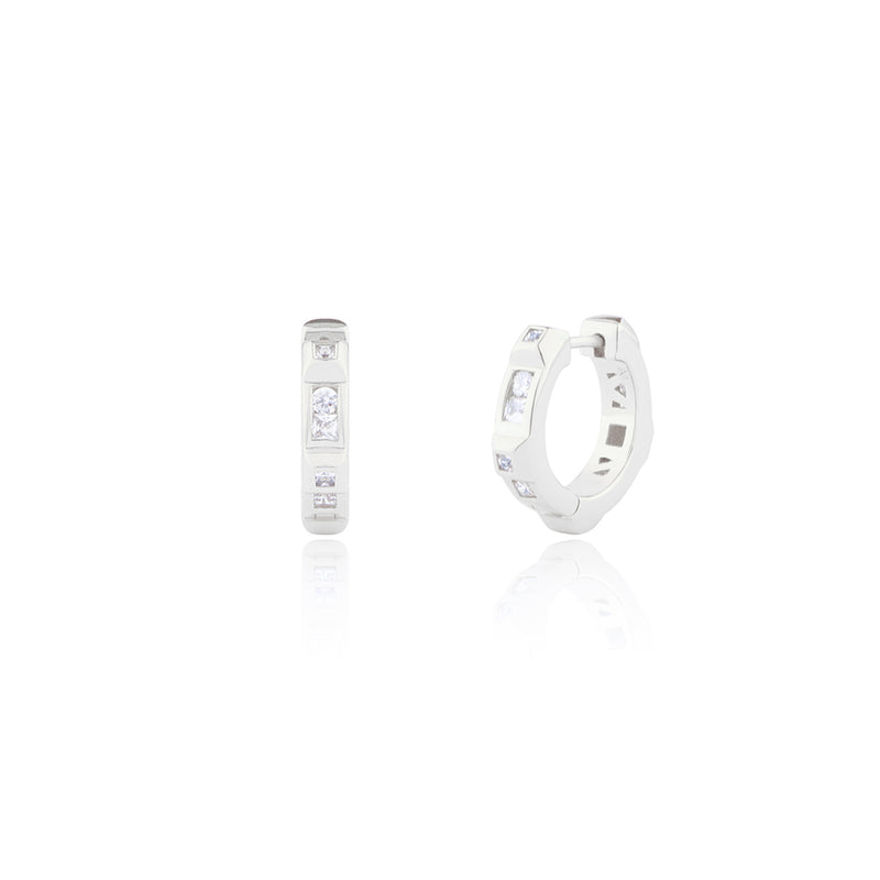 "Mini ""CRAVE"" Crystal Hoop Earrings"