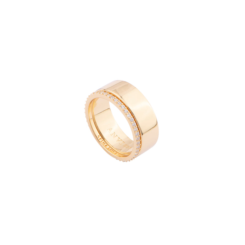 ESSENTIAL DOUBLE LAYER RING (5MM)