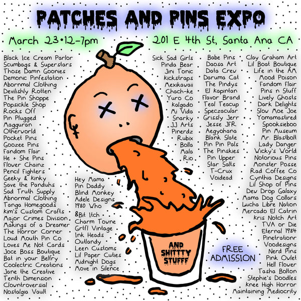 MARCH 23, 2019 // PATCHES & PINS EXPO