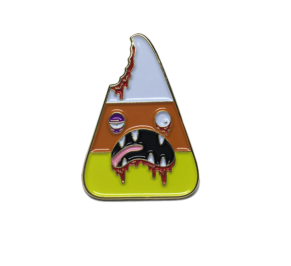 Zombie Candy Corn Pin