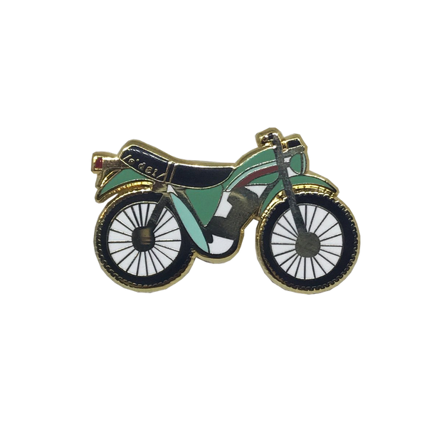 Psychedelic Moto Pin