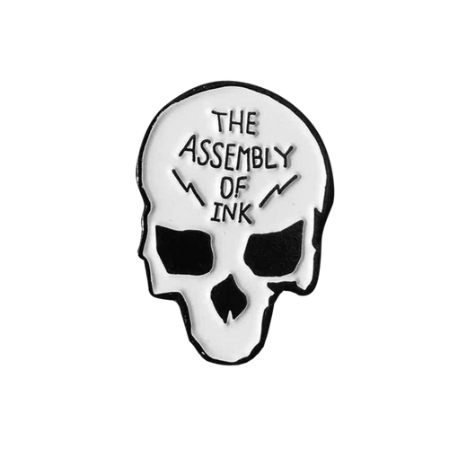 Assembly of Ink Skull Pin