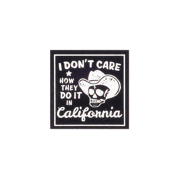 Don't Care Sticker