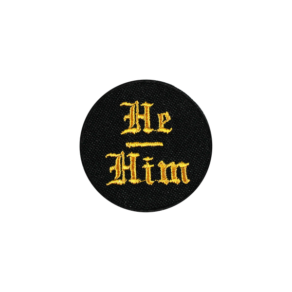 He/Him Pronoun Patch