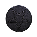 All Black Pentagram Patch