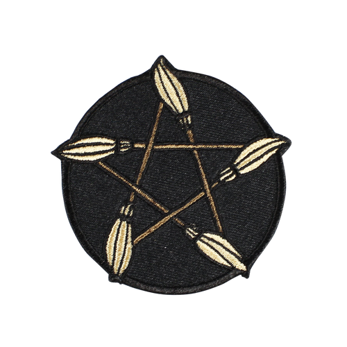 Broom Pentagram Patch