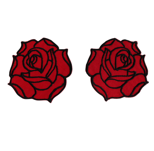 Double Rose Shoulder Patch Set