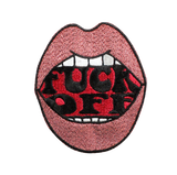 Fuck Off Mouth Metallic Patch