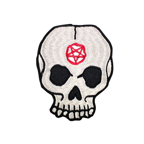 Pentagram Skull Patch