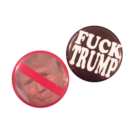 Fuck Trump, Bigotry and Racism Button Pack