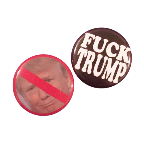 Fuck Trump Button Set