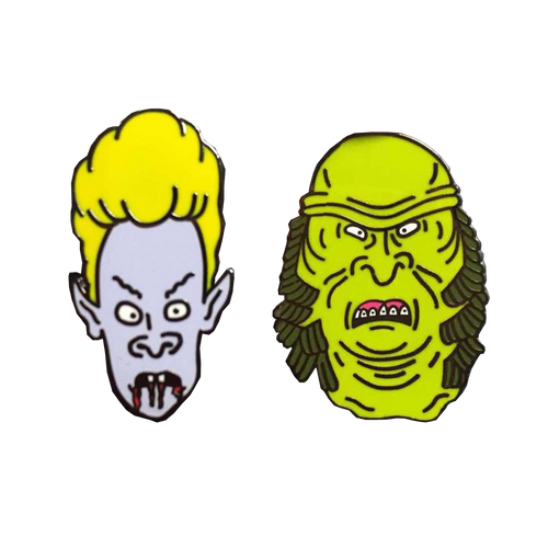 Beavis and Butthead Monster Dudes Pin Set