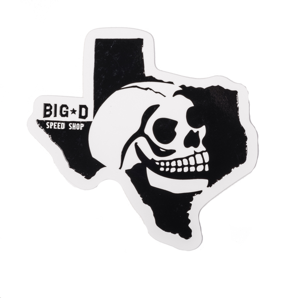 Texas Skull Sticker
